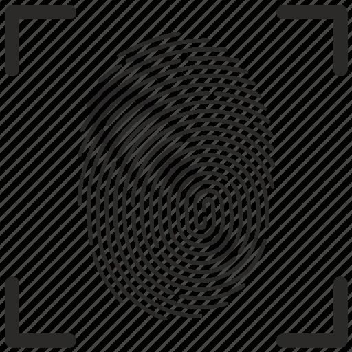 biometry, finger, fingerpring, scan icon