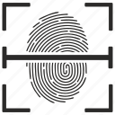 biometry, finger, fingerprint, scan icon