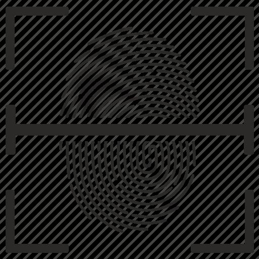 biometry, finger, fingerprint, scan icon