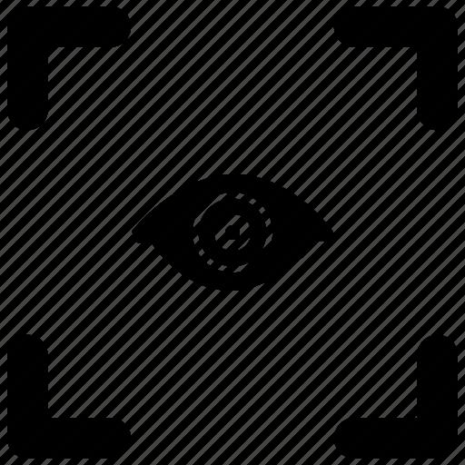 biometry, eye, identity, person, view icon