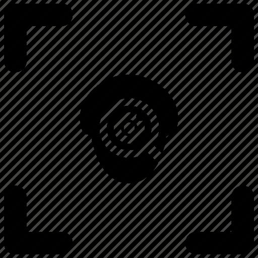 biometry, eye, find, head, scan icon