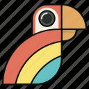 animal, bird, head, parrot, toucan icon