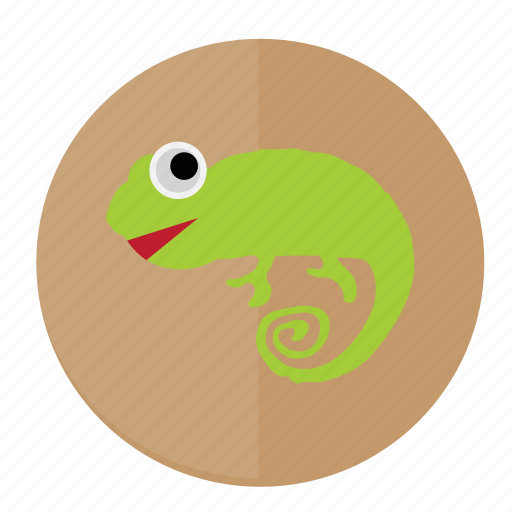 chamelon, forest, linux, lizard, reptile icon
