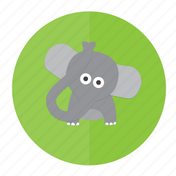 animal, elephant, forest, mammal, wild icon
