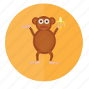 animal, animals, face, forest, monkey, wild icon