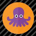 octopus, fish, marine, ocean, sea, seafood, water