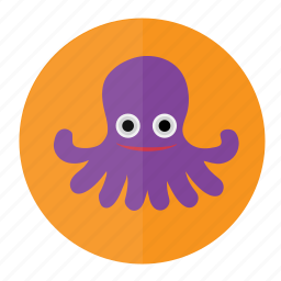 fish, marine, ocean, octopus, sea, seafood, water icon