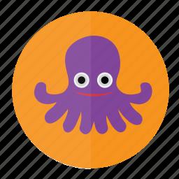 fish, marine, ocean, octopus, sea, seafood, water icon