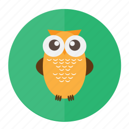 bird, forest, owl, wild icon
