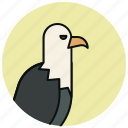 animals, bird, eagle, hunt icon