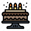 birthday, cake, candle