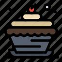 bakery, birthday, candle, cupcake, food