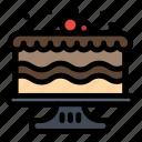 birthday, cake, food, party