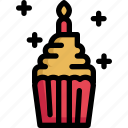 birthday, celebration, cupcake, decoration, dessert, muffin, party icon
