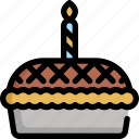 birthday, celebration, decoration, party, pie icon