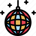 ball, birthday, celebration, decoration, disco, holiday, party icon