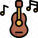 birthday, decoration, guitar, music, party, sound, speaker icon