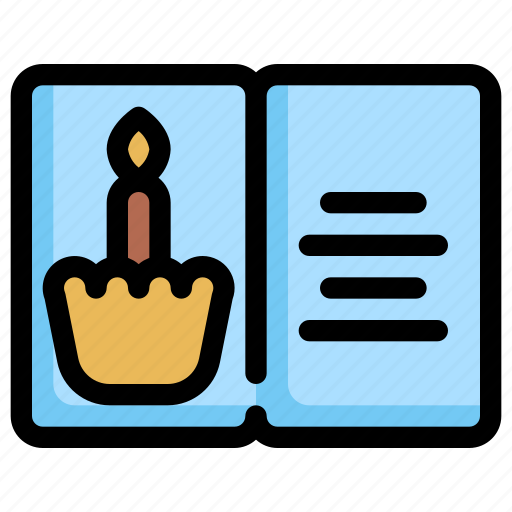 birthday, card, celebration, decoration, party icon