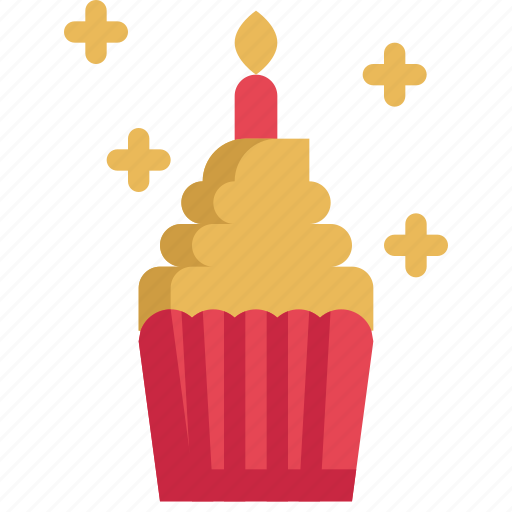 birthday, celebration, cupcake, decoration, festival, party icon