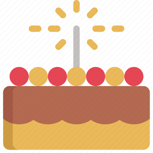 birthday, cake, celebration, decoration, dessert, party, sweet icon