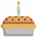 birthday, celebration, decoration, dessert, party, pie icon