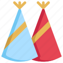 birthday, cap, celebration, decoration, hat, party icon
