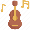 birthday, decoration, guitar, music, party icon