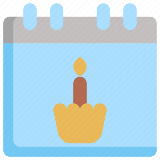 birthday, calendar, date, decoration, party, schedule, time icon