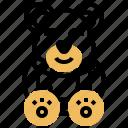 bear, doll, gift, stuffed, toy icon