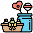 candy, confectionery, jar, lollipop, sweet icon