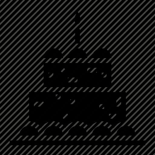 bakery, birthday, cake, candles, food icon