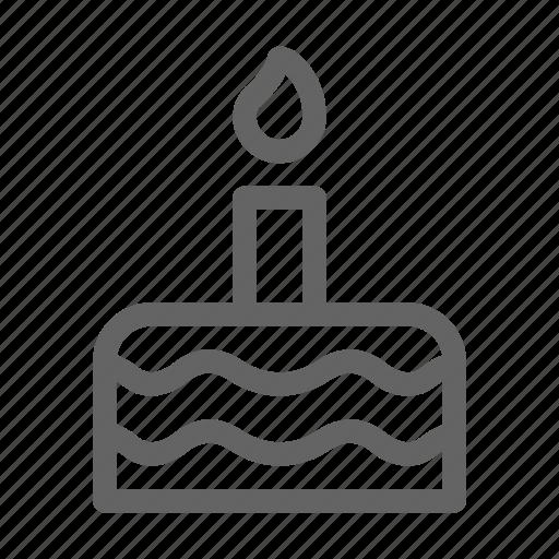 birthday, cake, candle icon
