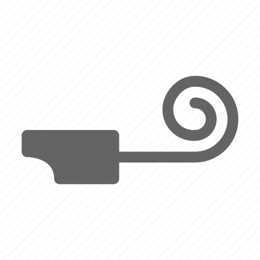 blower, horn, party icon