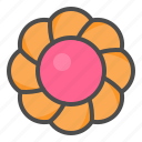 biscuit, cookie, cracker, flower icon