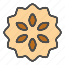 biscuit, cookie, cracker, pineapple jam, pineapple jam sandwich biscuit icon