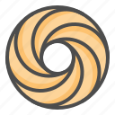 biscuit, cookie, cracker, ring, spritz icon