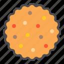 biscuit, cookie, cracker, sugar sprinkles, sugar sprinkles cookie icon