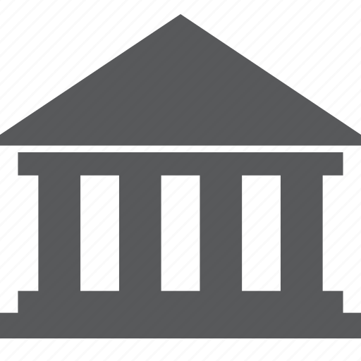 bank, banking, building, court, finance, online icon