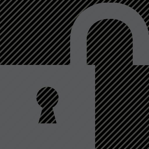 lock, locked, password, privacy, private, protection, unlock icon