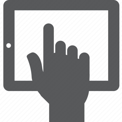 finger, gesture, hand, ipad, select, tablet, touch icon