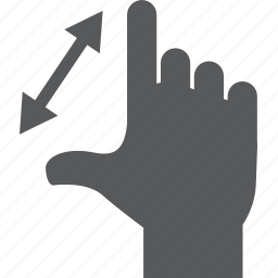 gesture, spread, touch, zoom icon