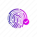 finger, password, print, protection, security, thumb icon