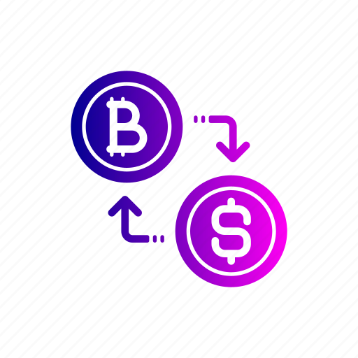 bitcoin, conversion, convert, currency, dollar, exchange icon