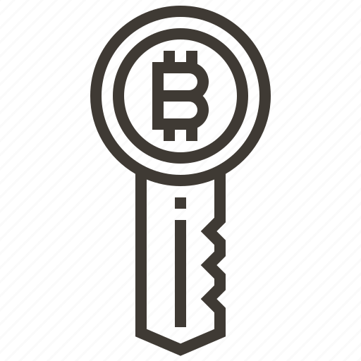 bitcoin, currency, finance, key, money, security icon
