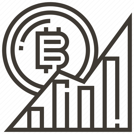 banking, bitcoin, currency, finance, graph, money, statistic icon
