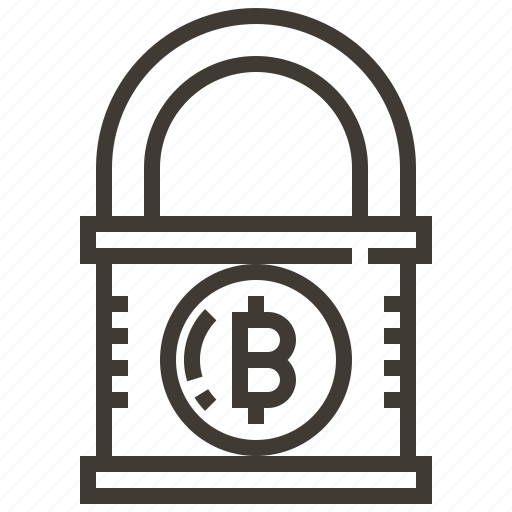 banking, bitcoin, coin, currency, finance, money, security icon