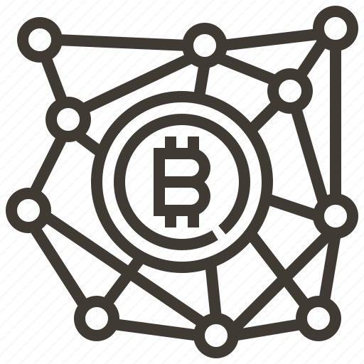banking, bitcoin, connection, currency, finance, money icon