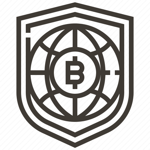 banking, bitcoin, currency, finance, global, money, security icon