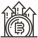 banking, bitcoin, cash, currency, finance, growth, money icon