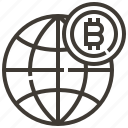 banking, bitcoin, cash, currency, finance, global, money icon